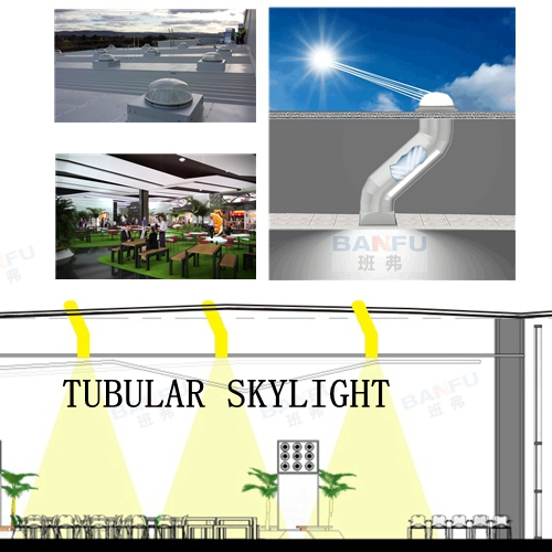BANFU tubualr skylight in Commercial Area, San Jose del Cabo Airport